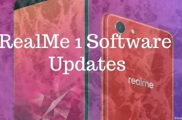 RealMe 1 Software Updates