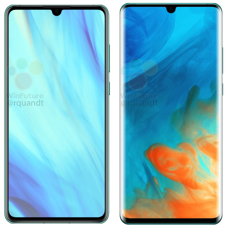 Huawei P30 and P30 Pro front panels