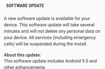 AT&T Android Pie update for Note 8, S8 and S8 Plus