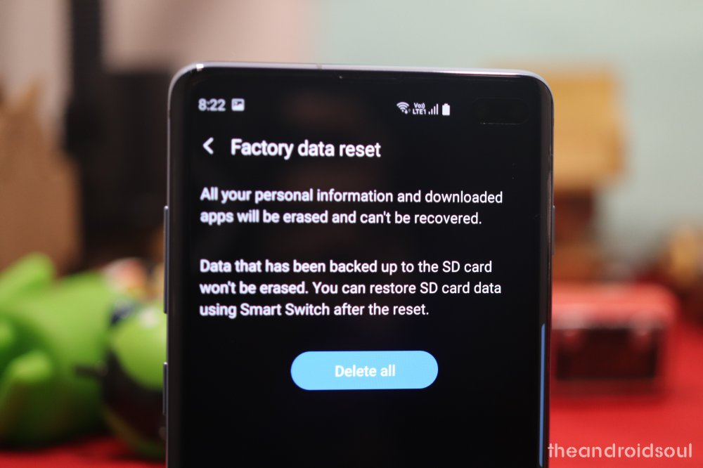 Samsung Galaxy factory reset