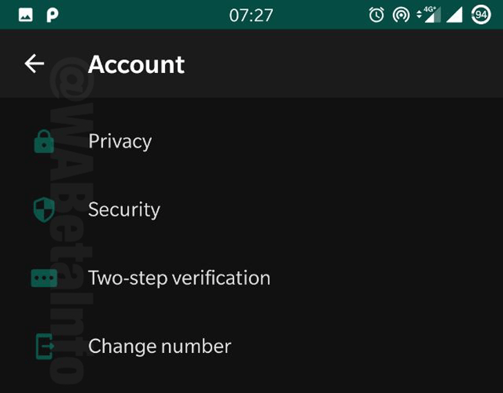 WhatsApp dark mode settings