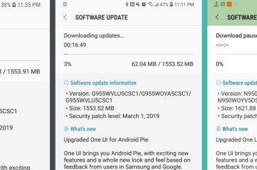 Canada Android Pie update for Galaxy Note 8, S8 and S8 plus