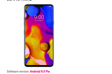 T-Mobile LG V40 ThinQ Android Pie update
