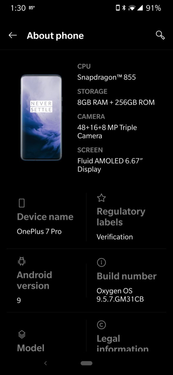 T-Mobile OxygenOS 9.5.7 update (2)