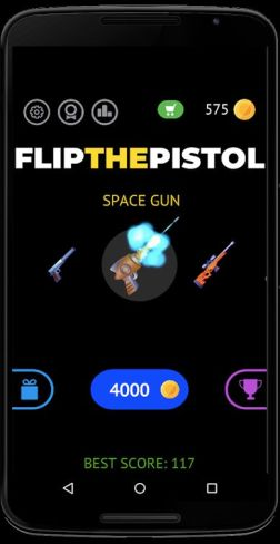Flip the pistol 3
