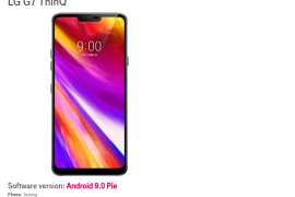 T-Mobile LG G7 Android Pie update testing