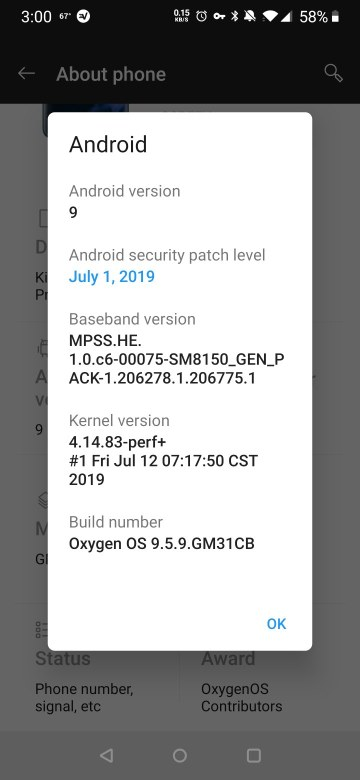 T-Mobile OxygenOS 9.5.9 update