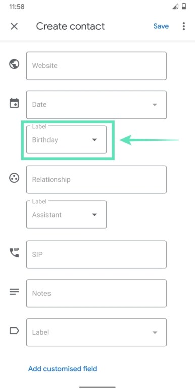 Add contacts on Googlr-13-a