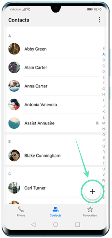 Add contacts on Huawei-4-a