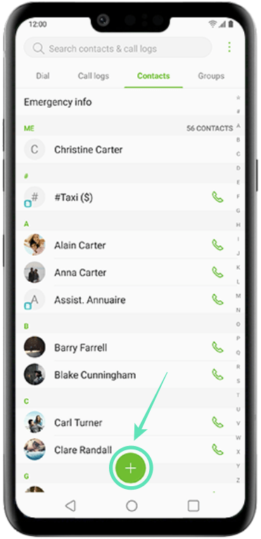 Add contacts on LG-2-a