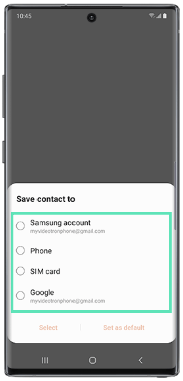 Add contacts on samsung-4-c