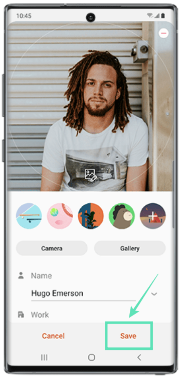 Add contacts on samsung-6-a