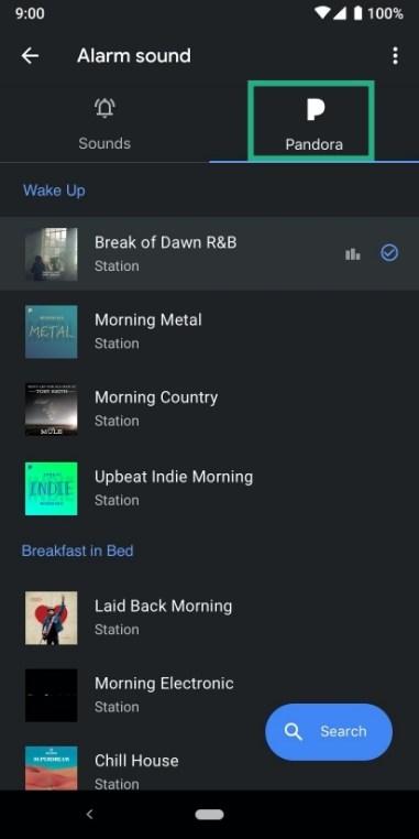 set Pandora as alarm-1-a