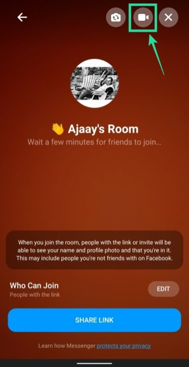 How to use Facebook Messenger rooms-6-a