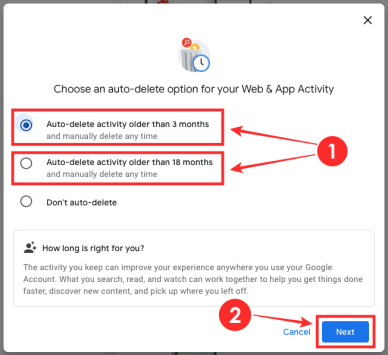 How to delete your Google activity automatically-4-a
