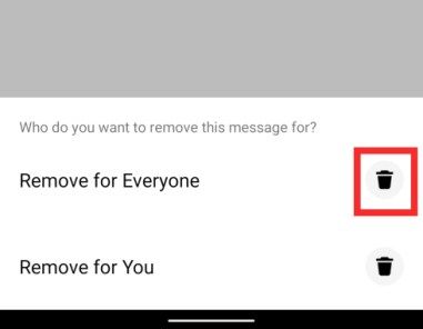delete messages on Messenger phone-6-a