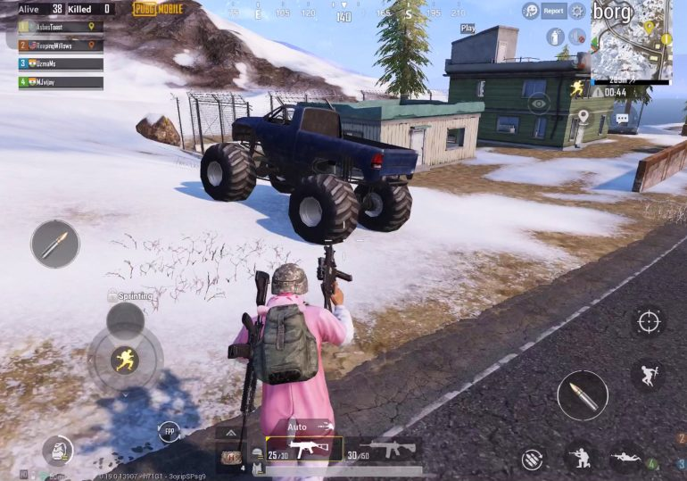 PUBG Mobile player approaching Monster Truck