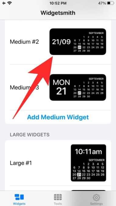 How to use Widgetsmith-13-b