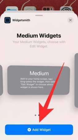 How to use Widgetsmith-26-a