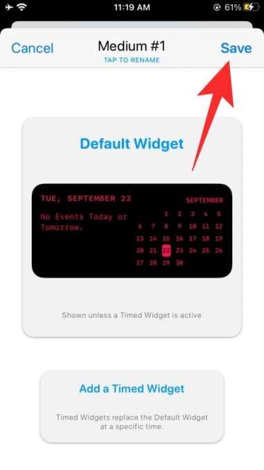 How to use Widgetsmith-48-a
