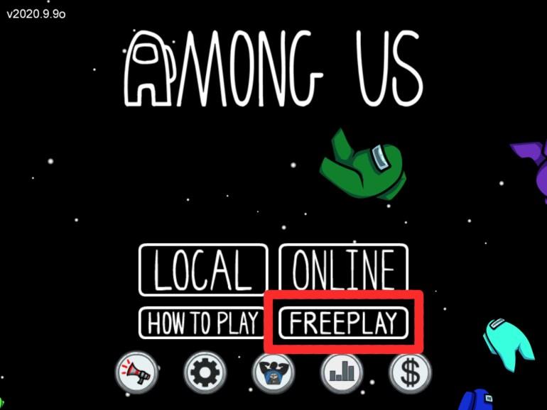 Among Us Freeplay Mode Button