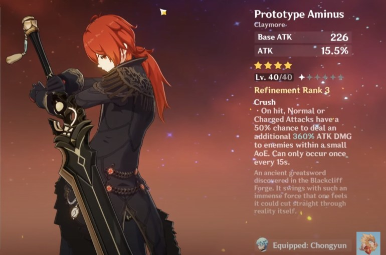 Genshin Impact Diluc Guide Best Weapon Diluc Prototype Animus