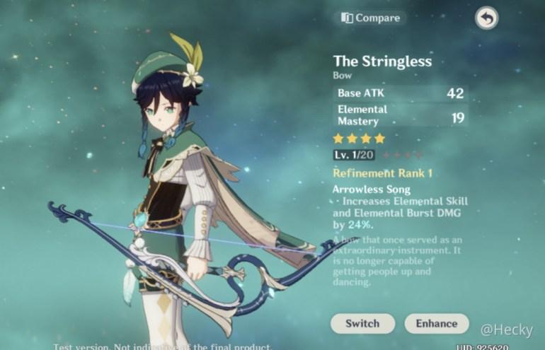 Genshin Impact Venti Build The Stringless