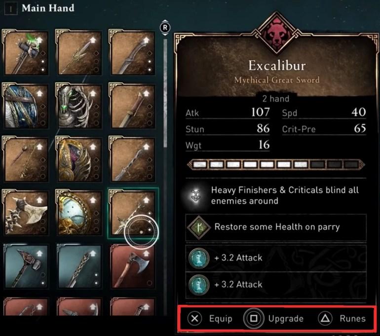 AC Valhalla Weapons List - AC Valhalla Weapon Upgrades