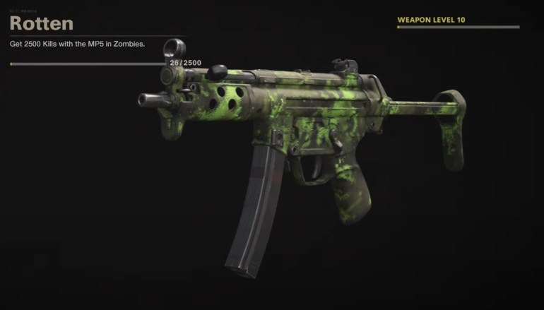 Black Ops Cold War Zombies Camo Challenges - Rotten