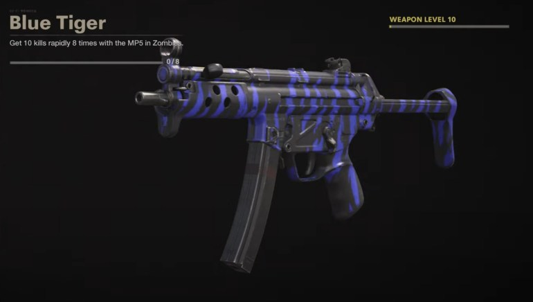 Black Ops Cold War Zombies Camo Challenges - Blue Tiger
