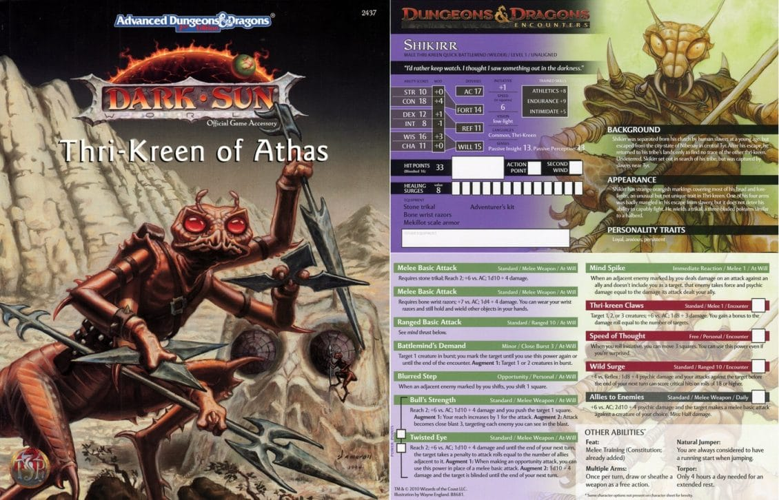 Dungeons And Dragons Playable Thri Kreen For Dd 5e Nerds On Earth
