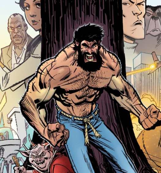 shirtless bear-fighter #1 cover
