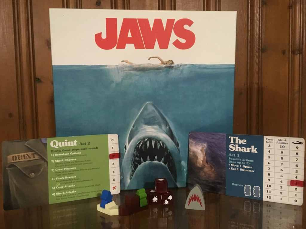 Jaws tabletop game components