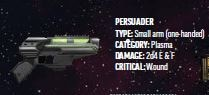 Mandalorian Starfinder Build, Persuader pistol.