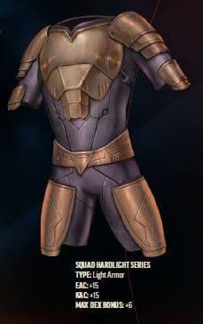 Mandalorian Starfinder Build, Squad Hardlight series armor.