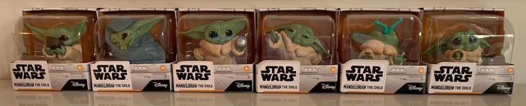 the whole line of baby Yoda toys