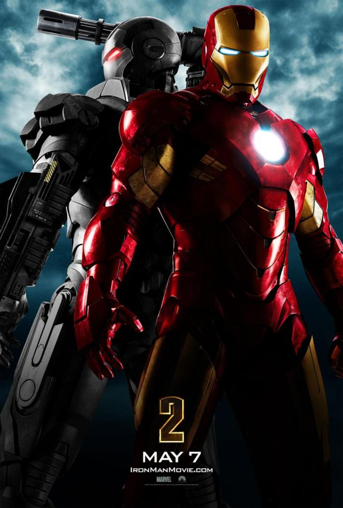 """Iron Man and War Machine. The image says it all, as evidenced by the confident, solo """"2"""" logo. War Machine was hinted at in the first movie, but seeing his armor next to Iron Man's is was hard to hold back the excitement heading into this movie."""