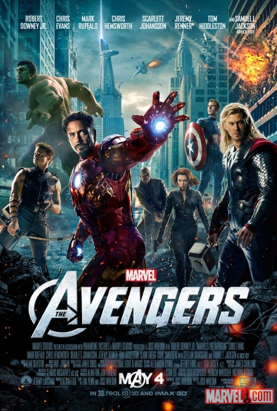 For the first time, all of Marvel's Cinematic heroes together on one poster. I admit that Tony looks a little goofy without his mask, but that doesn't change the facts that we could never picture this in our wildest dreams 10 years ago.