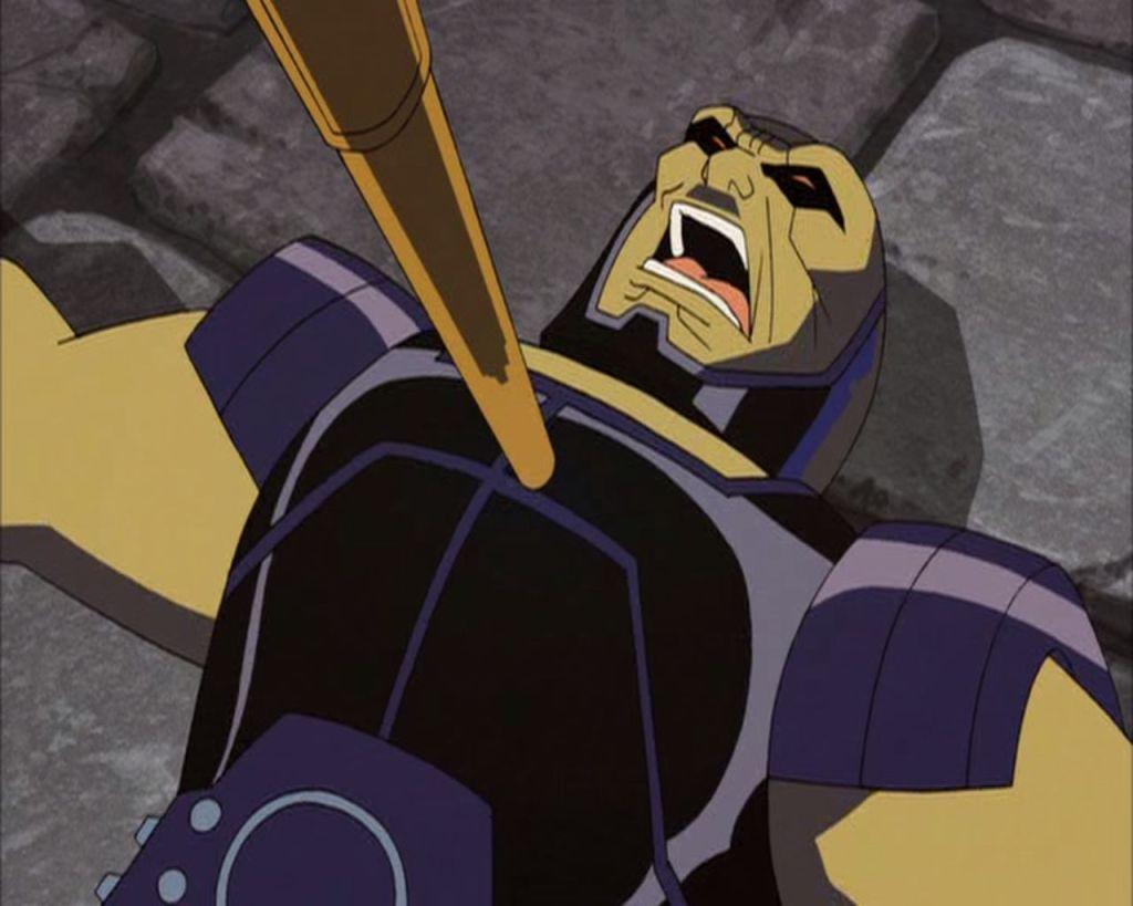 Darkseid being attacked.