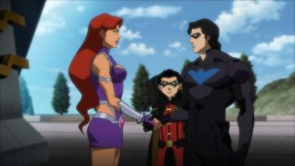 JLvsTT-Starfire-Robin-Nightwing