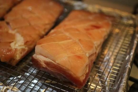 Crispy Pork Belly with Sesame Roasted Pears