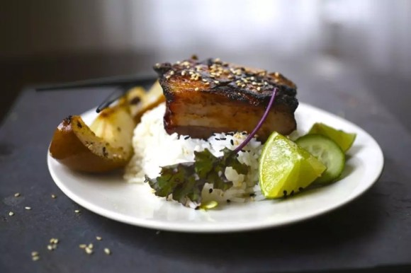 Crispy Pork Belly with Soy Honey Glaze