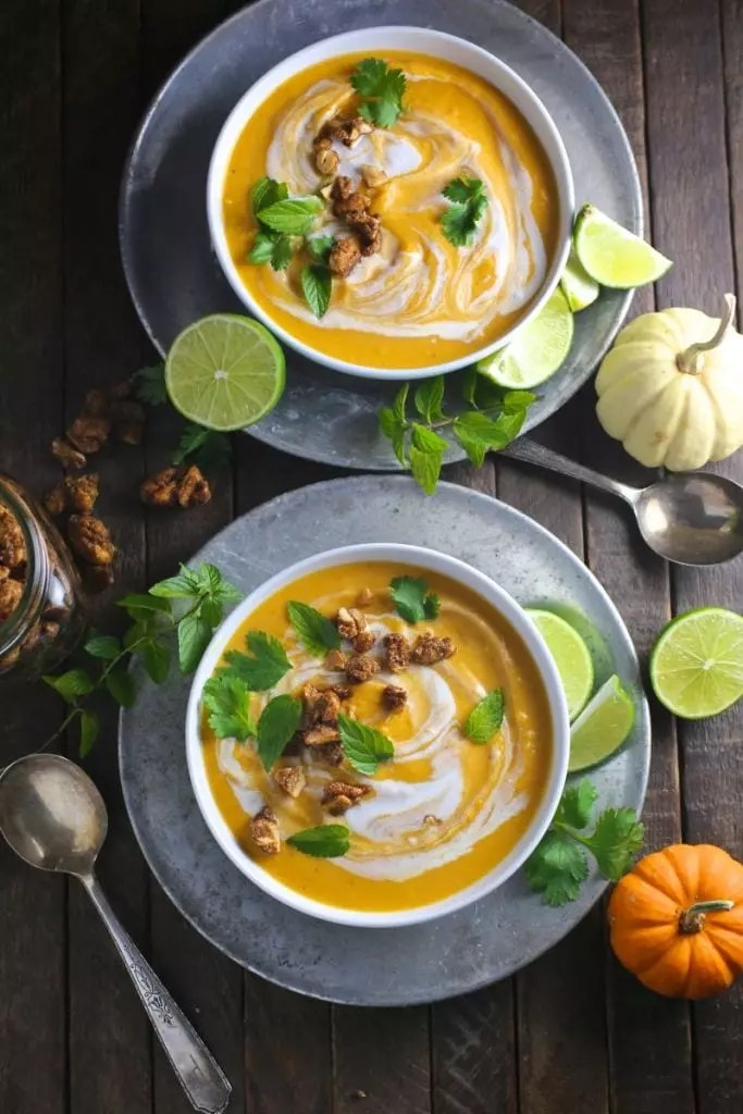 Thai Coconut Curry Butternut Squash Soup