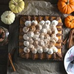 A pumpkin tart covered in meringue cones