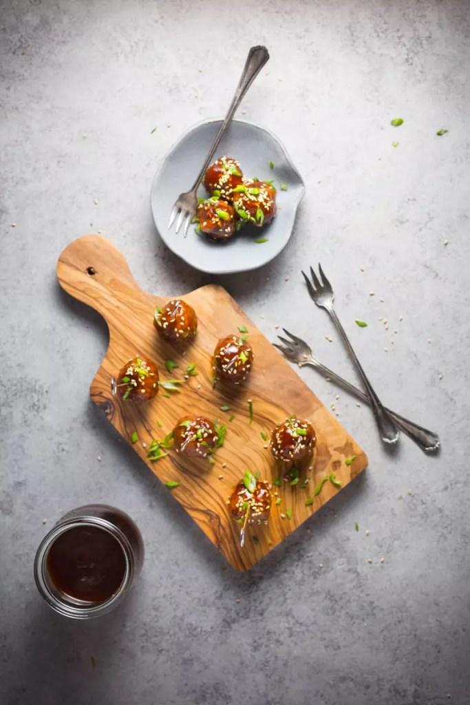 Cocktail Meatballs - Hoisin Glazed