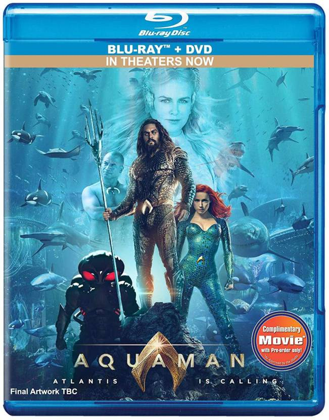 capa do blu-ray de Aquaman