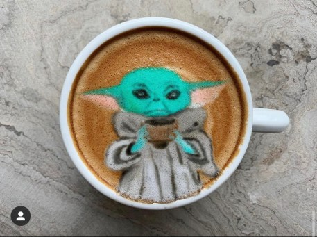 Baby Yoda- credito instagram @baristabrian