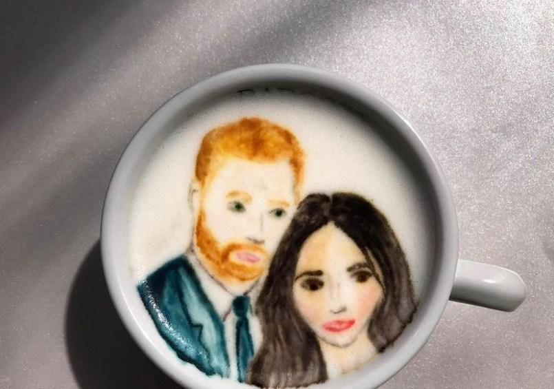 Príncipe Harry e Meghan Markle- credito instagram @baristabrian