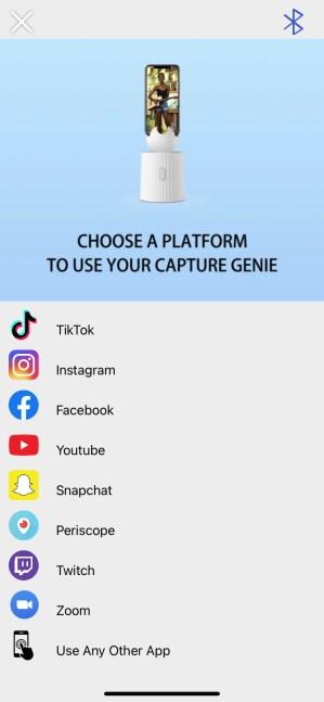 Escolha o seu aplicativo