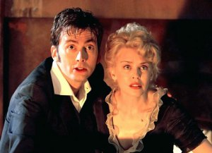 David Tennant with Kylie Minogue in the 2007 Doctor Who Christmas special. (BBC)